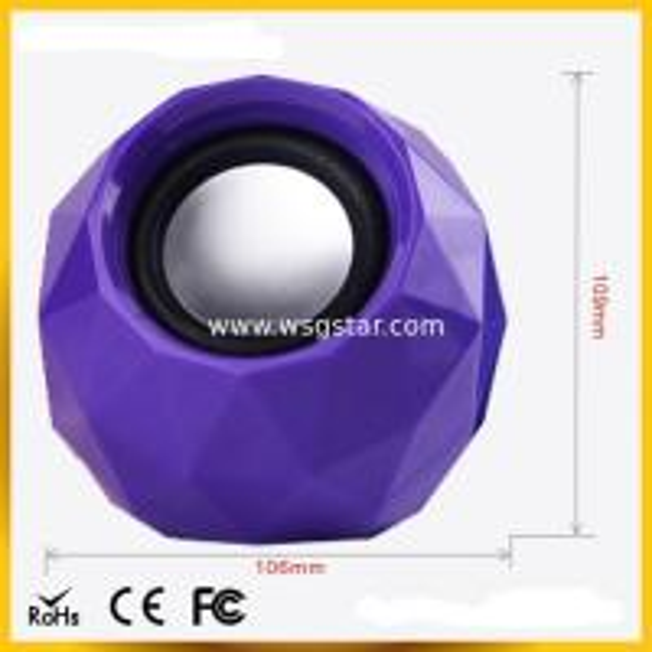 Quality Diamond design 2.0 USB mini Speaker for sale