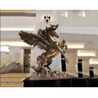 Buy cheap Surface Painted Antique Bronze Statue , Indoor Metal Sculptures Hotel Decoration from wholesalers
