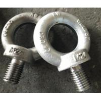 Buy cheap Zinc plated Steel Lifting Eye Bolt Germany DIN580 M24 for rigging , electric machine from wholesalers