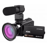 Buy cheap wholesale Andoer 4K 1080P 48MP WiFi Digital Video Camera Camcorder Wide Angle Macro Lens Microphone Novatek 96660 from wholesalers