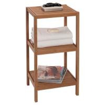 Buy cheap wooden bamboo bathroom towel storage rack from wholesalers