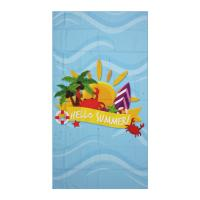 Buy cheap Durable Fast Drying Custom Microfiber Towels Transfer Printed  In Summer from wholesalers