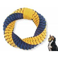 Buy cheap 6''*6''*1.4'' Dog Tough Chew Toys , Nylon Braided Indestructible Dog Rope Toys from wholesalers