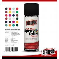 Buy cheap Fast Dry 400ml Aerosol Spray Paints / High Coverage Black Spray Paint For Cars from wholesalers