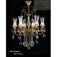 Buy cheap E27 Crystal Pendant Lighting Glass Hanging Light Chandelier For Cafe Shop from wholesalers