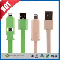 Buy cheap Samsung / Iphone Cell Phone USB Cable , 2 In1 Micro Sync Data Charging Cable from wholesalers