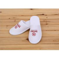 Buy cheap Logo Printed White Color Disposable Hotel Slippers For Womens / Mens / Kids from wholesalers