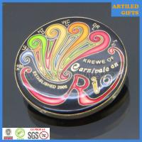 Buy cheap Krewe of Carnivale en Rio enamel gold challenge coin with epoxy dome from wholesalers
