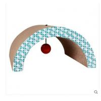 Buy cheap Arch Shaped Cardboard Cat Scratcher SGS , Cardboard Scratching Pad With Cat Toys from wholesalers