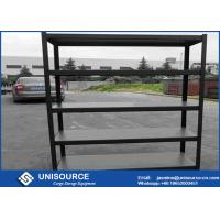 Buy cheap Bolt - Free 5 Tier Storage Shelf , Boltless Steel Shelving With Black Wrinkle Step Beam from wholesalers