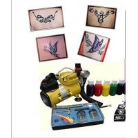 Buy cheap 220-240v, 50Hz Body Art Glitter Temporary Tattoo Kit with Mini Air Compressor from wholesalers