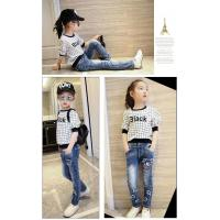 Buy cheap High stretch cheap elastic black water twill denim shorts jeans for girls from wholesalers