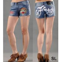 China New Arrival Ed Hardy Women' s Short jeans on sale