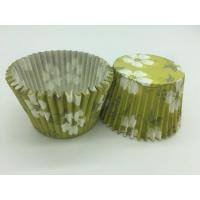 Buy cheap Green White Flower Greaseproof Cupcake Liners Disposable Mini Baking Tools Cake Decoration from wholesalers
