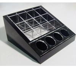 Buy cheap Black Cosmetic Display Desktop Cosmetic Display Holders 15cm X 15cm product