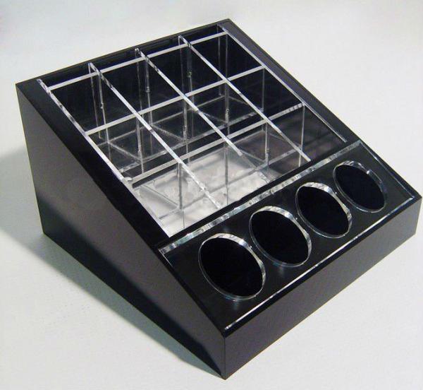 Buy cheap Black Cosmetic Display Desktop Cosmetic Display Holders 15cm X 15cm from wholesalers