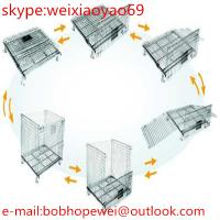 Buy cheap folding warehouse storage cage&folding steel storage cage&galvanized storage metal cage from wholesalers