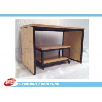 Buy cheap Eco Friendly Durable MDF Metal Display Tables With LOGO Sticker ISO Certificate from wholesalers