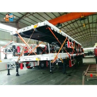 Buy cheap Three Axle 40ft Flat Bed Semi Trailer With Wide Range Of Uses Container Semi Trailer from wholesalers
