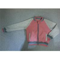 Buy cheap Pink Girls Baseball Jackets Outerwear Autumn Spring Jackets For Girls With Zip from wholesalers