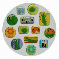 Buy cheap Epoxy 3D dome sticker, eco-friendly, easy-to-apply and -remove, OEM and ODM product