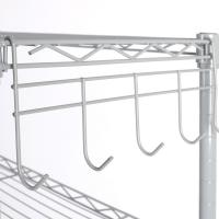 Buy cheap Light Duty 4 Tiers Chrome Metal Wire Shelving  Heavy duty NSF 4 tier chrome wire shelf grid wall wire mesh from wholesalers