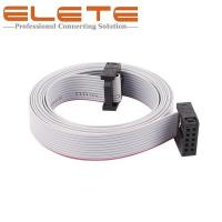Buy cheap 2.54mm Pitch 10Pin 10 Wires Female to female IDC Connector Flat Ribbon Cable 150cm long IDC Connector from wholesalers