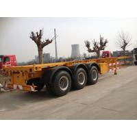 Buy cheap 2 / 3 Axles Skeleton Container Semi Trailer Trucks , container transport from wholesalers