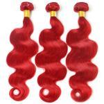 Buy cheap Red Color Body Wave Brazilian Hair Peruvian Virgin Human Hair 12 to 26 No Shedding from wholesalers