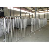 Buy cheap Detachable foot portable metal pedestrian barriers , portable crowd barriers product