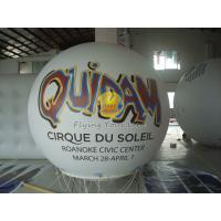 Buy cheap White Inflatable Advertising helium balloon with UV protected printing for Trade show product