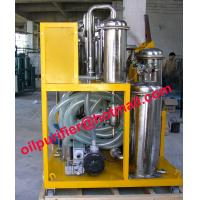 Buy cheap Oil Purifier Machine for quenching oil filter cart,hydraulic oil purifying,vacuum degasifier system from wholesalers