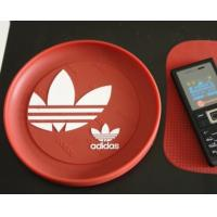 Buy cheap Red round plastic coin tray Eco Friendly PVC loose coin tray With logo from wholesalers