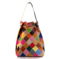 Buy cheap Wholesale Multi-Color Pieced Leather Womens Drawstring Handbag from wholesalers