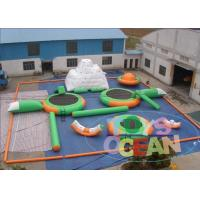 Buy cheap Green Open Sea  Inflatable Water Park Rentals For Kids 0.9MM PVC from Wholesalers