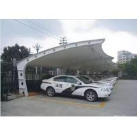 Buy cheap Q235 High Peak PVDF Tensile Fabric Canopy , Car Parking Tensile Structure from wholesalers