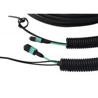 Buy cheap FTTA GYFJH MPO Fiber Optic Patch Cord OM3 Multimode Type Black Color from wholesalers
