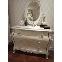 Buy cheap Apartment Classic French Furniture Dresser With Mirror Three Big Drawers from wholesalers