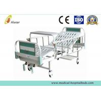 Buy cheap CE Approved Manual 2 Crank Medical Hospital Beds With Covered Castors (ALS-M223) from wholesalers