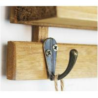 Buy cheap 3 hooks Family Wall Hanger Cloth Hats Bag Key wood Hook wooden ladder shelf home decorator from wholesalers