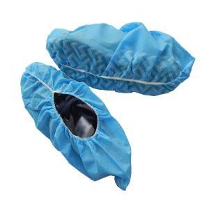 Buy cheap Disposable Blue Booties Shoe Covers Convinient Fluid Resistant Eco Friendly product