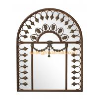 Buy cheap Arch Shape Design Resin Decorated Beautiful Metal Frame Wall Mirror Wall Art from wholesalers