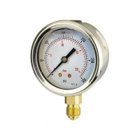 Buy cheap 100mm Bottom-Entry Pressure Gauge from wholesalers