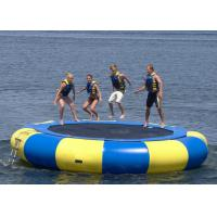 Quality UV Protective Floating Water Trampoline , Blow Up Trampoline Two Coated Side for sale
