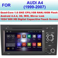 Buy cheap High Pixel Audi DVD Player 1999 - 2007 Mirror Link Audi A4 GPS Navigation System from wholesalers