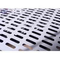 Buy cheap Slotted Perforated Metal Mesh Zinc Coated Plain Weave Style 1.22x2.44m Size from wholesalers