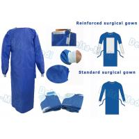 Buy cheap SMS Disposable Surgical Gown With Knitted Cuff Environmentally Friendly from wholesalers