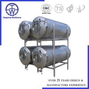 China Horizontal Bright Beer Tank Polishing Below 0.4um CIP Rotation Ball PU Insulation on sale