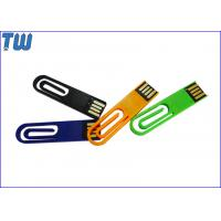 Buy cheap Plastic Paper Clip 128GB Thumb Drives Flash 2IN1 Office Useful from wholesalers