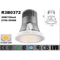 Buy cheap Warm White 3000K Soft LED Ceiling Spotlights Aluminum Die - Cast 720mA 37V from wholesalers